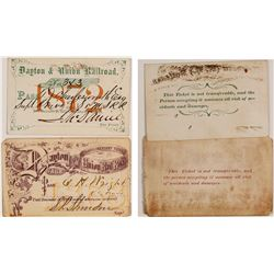 Dayton & Union Railroad Passes (1868 & 1872)