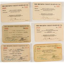 Hocking Valley Railroad Co. Pass Collection