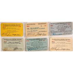 Toledo & Ohio Central Railway Pass Collection