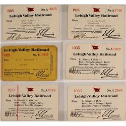 Lehigh Valley Railroad Passes
