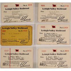 Lehigh Valley Railroad Passes