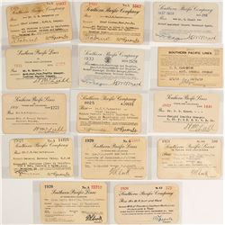 Southern Pacific Railroad Company Pass Collection