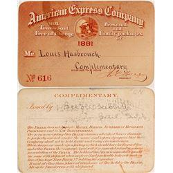 American Express Company Pass, 1891