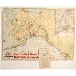 Alaska Map of Copper River Railway and Alaska Railroad