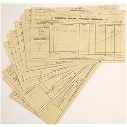 Western Pacific Railway Receipts for Keddie, CA