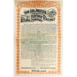 The Los Angeles Consolidated Electric Railway Company Bond