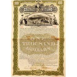 Colorado Midland Railway Company Bond