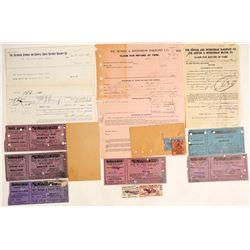 Colorado Railroad Tickets & Ephemera