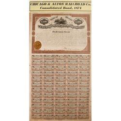 Chicago and Alton Railroad Company Bond