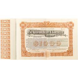 Rockford Beloit & Janesville Railroad Company Bond