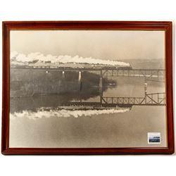 Baltimore & Ohio Railroad Framed  Photograph. c1925