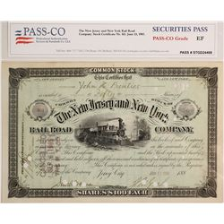 New Jersey & New York Railroad Co. Stock Certificate