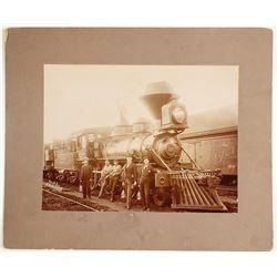 Mounted Photograph of Oregon & California Railroad Locomotive