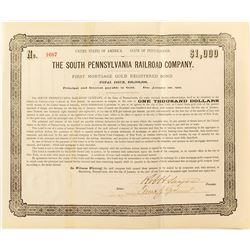 The Southern Pennsylvania Railroad Company Bond