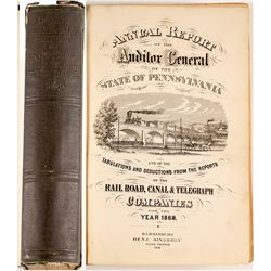 Auditor's Report on RailRoads, Canals and Telegraphs 1869