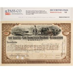 Seattle & San Francisco Railway & Navigation Co. Stock Certificate