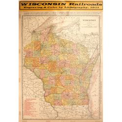 Map of Wisconsin Railroads