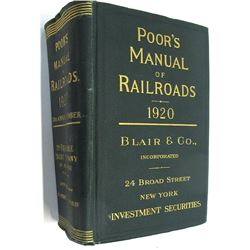 Poor's Manual of Railroads 1920