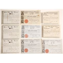 Western Rail Road Company Stock Certificate Collection