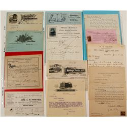 Central California Billheads and Letterheads (10)