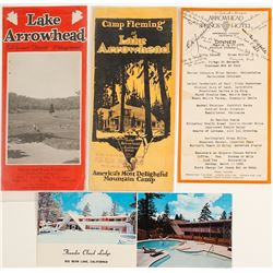Lake Arrowhead Area Ephemera
