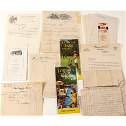 Letters, Pamphlets, Billheads,from Old California Cities
