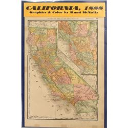 Map of California 1888
