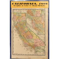 Map of California 1888