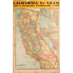 Map of California c.1900