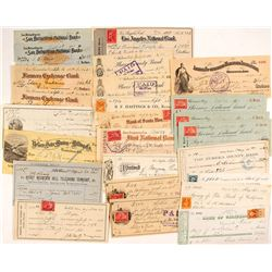 Western States Check Collection incl. Nevada Territorial