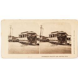 Denver Streetcar Stereoview