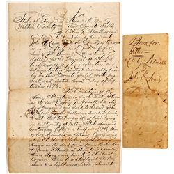 1876 Walton County, Georgia Land Sale Document
