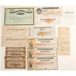 Montana Ephemera (Scrip, Checks, Etc.)