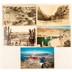 Boulder Dam, City and Lake Postcards
