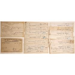 1880s Eureka, Nevada Check Archive Plus Extras