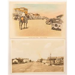 Two Wells Nevada Postcards
