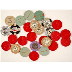Assorted Casino Chips, Approx 27