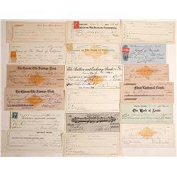 Nevada Check Collection (Virginia City, Reno, Carson, Austin)