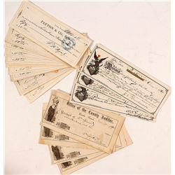 Nevada Check Collection: Eureka & Pioche