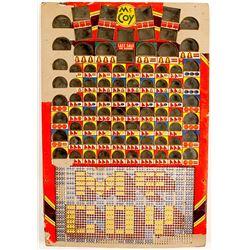 Silver slot Gambling Board (Silver Dollar & Half Dollar)