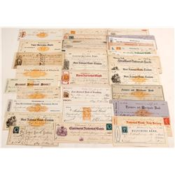 New Jersey Check Collection with a Nice Mix of Revenue and Adhesive Stamps