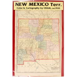 Map of New Mexico Territory