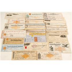 Large Collection of New York Checks