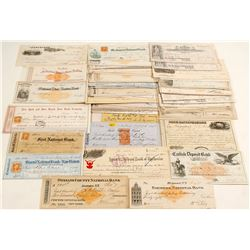 Large Collection of New York Checks
