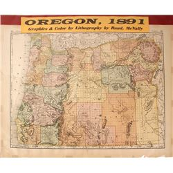 Map of Oregon, Rand-McNally