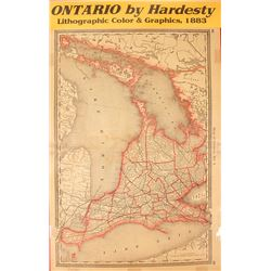 Map of Ontario by Hardesty