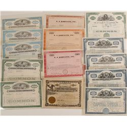 Automobile Company Stock Certificate Collection