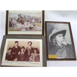 Framed Wild West Pictures (3)