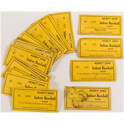 Knights of Pythias Baseball Tickets (20)