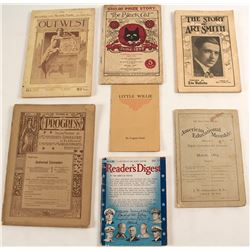 """Literature Pamphlets, & Book """"The Black Cat"""""""